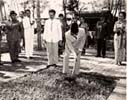 First ground breaking by Ir. Soekarno
