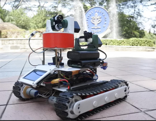 Aurora, The Oil Palm Monitoring Robot by IPB University Students