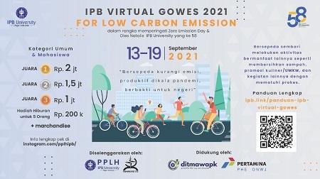 Ayo Ikuti Lomba IPB Virtual Gowes 2021, PPLH IPB University Siapkan Hadiah Total 11 Juta Rupiah