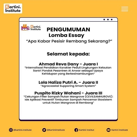 IPB University Student Won 2nd Place in Kartini Institute Essay Competition Through Agricultural Development Ideas in Coastal Areas