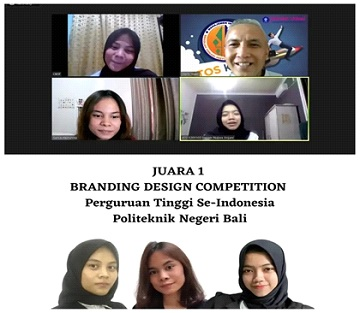 Three IPB University Vocational School Students Win 1st Place in the 2021 National Business Management Competition